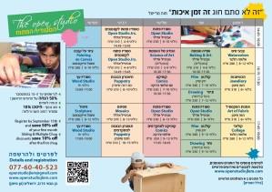 Children art courses chart 2015-2016